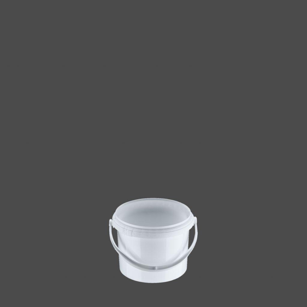2 Liter Rundeimer, weiß