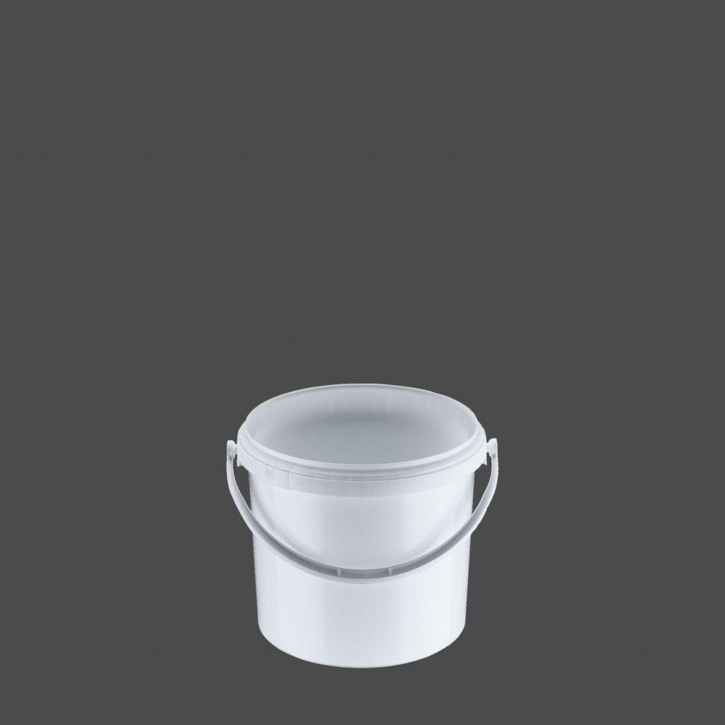 5 Liter Rundeimer, weiß