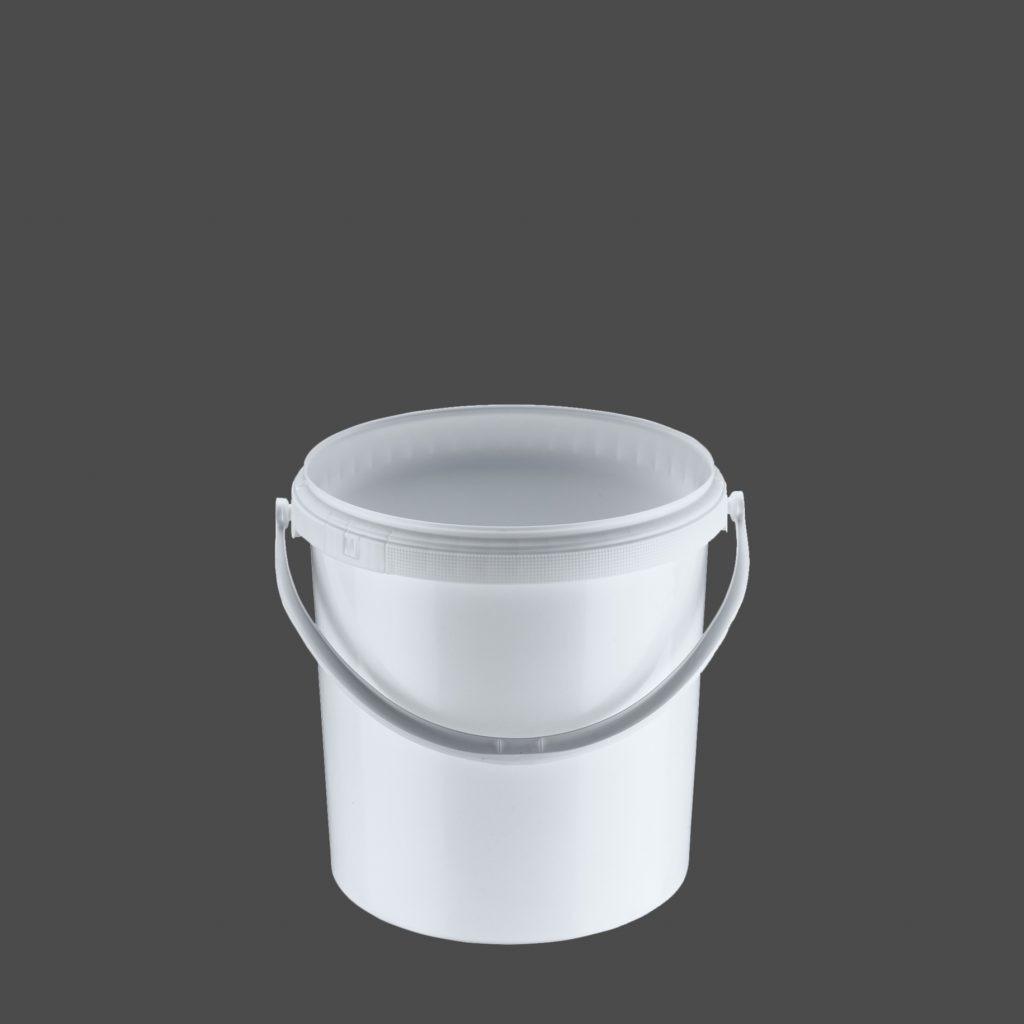 10 Liter Rundeimer, weiß