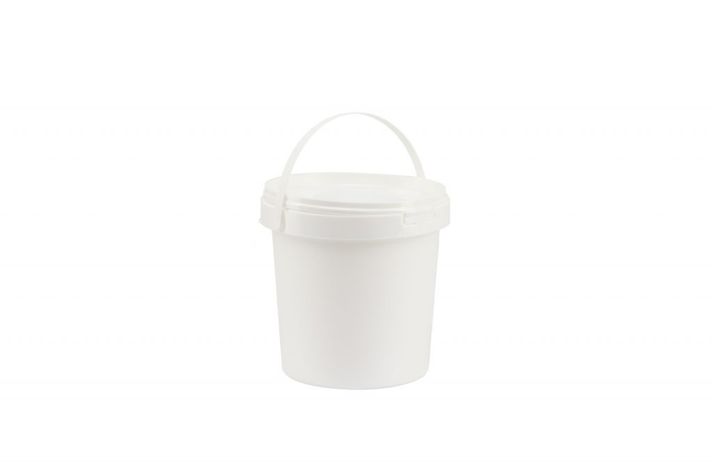 1 Liter Rundeimer, weiß